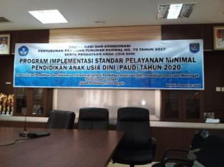 Sosialisasi Dan Koordinasi Program Implementasi SPM PAUD 2020